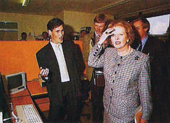 Martin meets PM Margaret Thatcher
